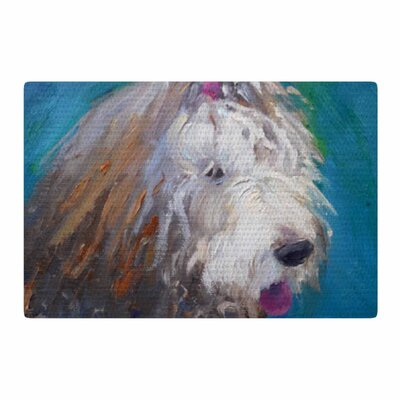 Carol Schiff Shaggy Dog Story Animals Blue Area Rug Rug Size: 2 x 3