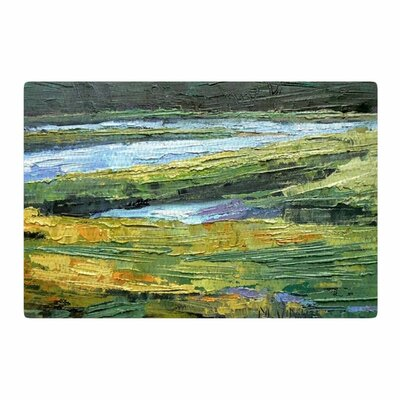 Carol Schiff Southern Marsh Green/Yellow Area Rug Rug Size: 4 x 6