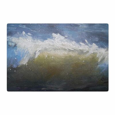 Carol Schiff the Curl Painting Blue/Brown Area Rug Rug Size: 2 x 3