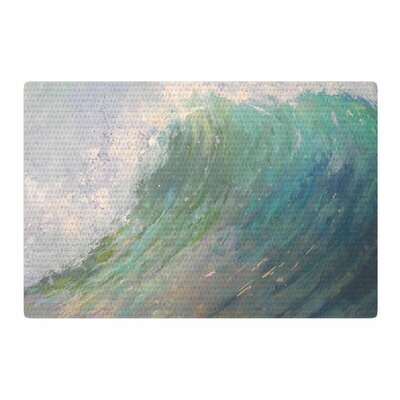 Carol Schiff Wall of Water Painting Blue Area Rug Rug Size: 2 x 3