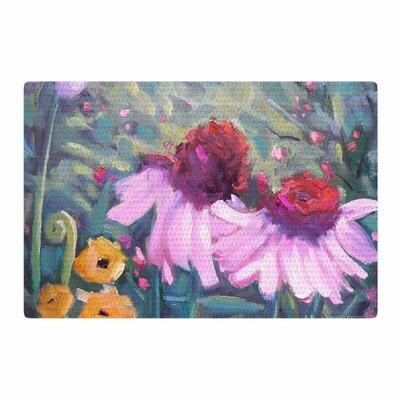 Carol Schiff Woodland Fantasy Green/Pink Area Rug Rug Size: 4 x 6