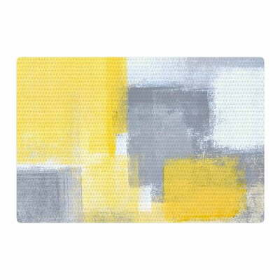 CarolLynn Tice Steady Yellow/Gray Area Rug Rug Size: 4 x 6