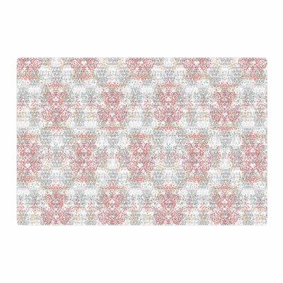 Carolyn Greifeld Damask Splatter Pink/Gray Area Rug Rug Size: 2 x 3
