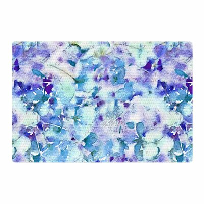 Carolyn Greifeld Floral Fantasy Blue Purple/White Area Rug Rug Size: 4 x 6
