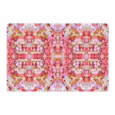 Carolyn Greifeld Floral Reflections Pink/Red Area Rug Rug Size: 2 x 3