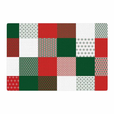 Carolyn Greifeld Holiday Patchwork Red/Green Area Rug Rug Size: 4 x 6