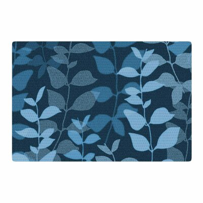 Carolyn Greifeld Leaves of Dreams Blue Area Rug Rug Size: 4 x 6