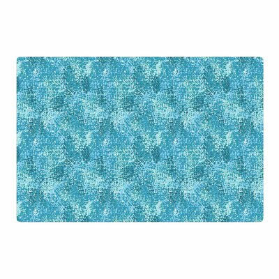 Carolyn Greifeld Painterly Blues Abstract White Area Rug Rug Size: 2 x 3