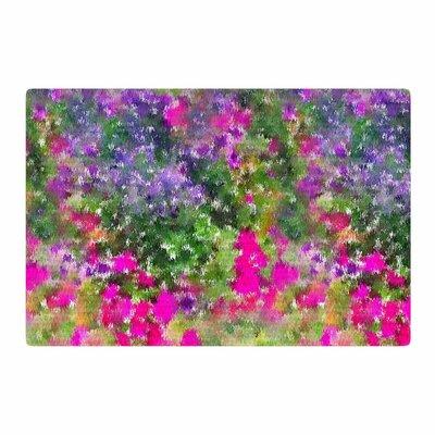 Carolyn Greifeld Water Florals Pink/Green Area Rug Rug Size: 4 x 6
