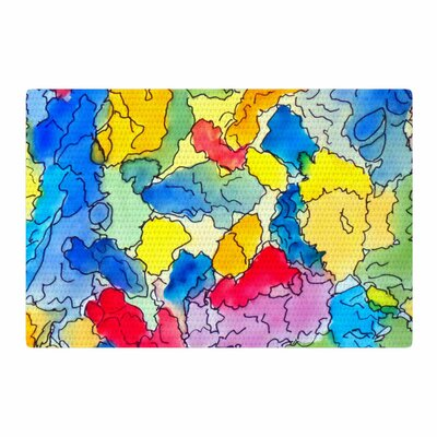 Cathy Rodgers Explorer Blue/Yellow Area Rug Rug Size: 4 x 6