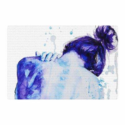 Cecibd Blue Watercolor Aqua Area Rug Rug Size: 4 x 6