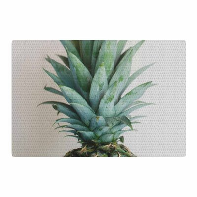 Chelsea Victoria the Pineapple Green/Gold Area Rug Rug Size: 4 x 6