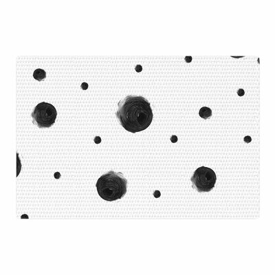 Chelsea Victoria Black Dots Pattern Abstract Area Rug Rug Size: 2 x 3