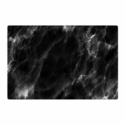 Chelsea Victoria Black Marble Modern White Area Rug Rug Size: 4 x 6