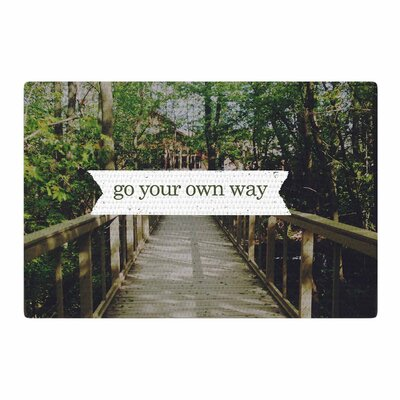 Chelsea Victoria Go Your Own Way Nature/Green Area Rug Rug Size: 4 x 6