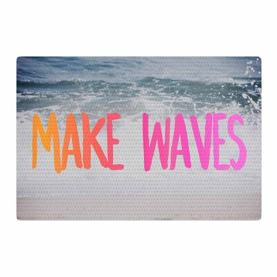 Chelsea Victoria Make Waves Photography Pink Area Rug Rug Size: 2 x 3