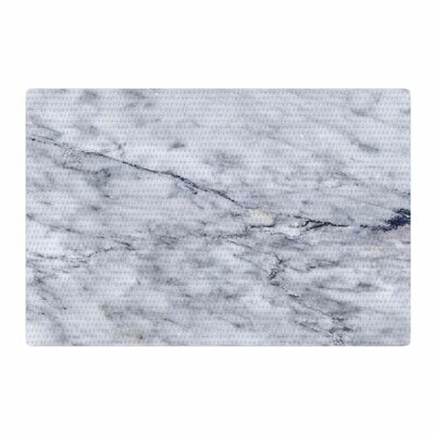 Chelsea Victoria Marble Blue/Black Area Rug Rug Size: 2 x 3