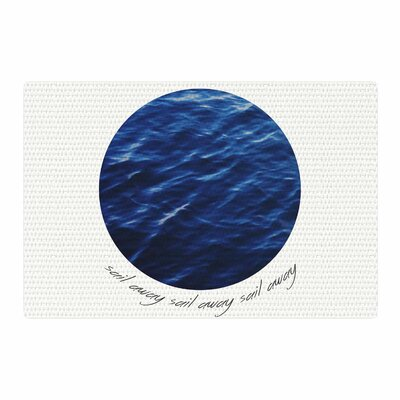 Chelsea Victoria Sail Away Blue/White Area Rug Rug Size: 4 x 6
