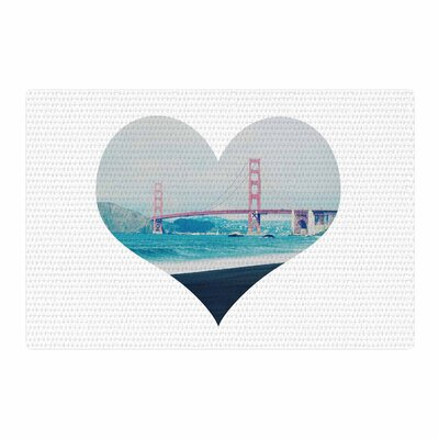 Chelsea Victoria San Francisco Love Coastal/Blue Area Rug Rug Size: 2 x 3