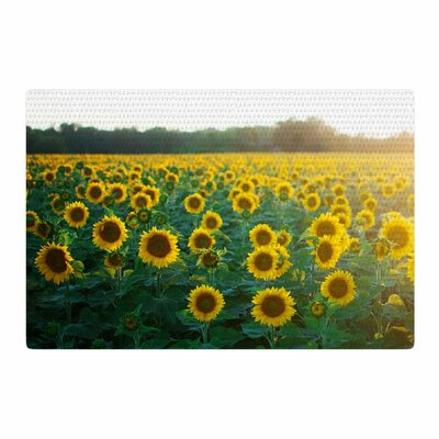 Chelsea Victoria Sunflower Fields Floral Photography Yellow Area Rug Rug Size: 4 x 6