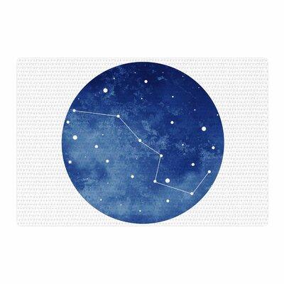Chelsea Victoria Ursa Major Celestial Blue Area Rug Rug Size: 4 x 6
