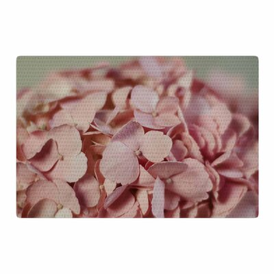 Cristina Mitchell Hydrangea Photography Pink/Nature Area Rug Rug Size: 2 x 3