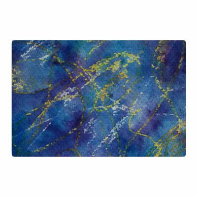 Cyndi Steen Deep Abstract Blue/Yellow Area Rug Rug Size: 4 x 6