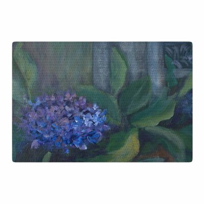 Cyndi Steen Hydrangea Floral Green Area Rug Rug Size: 2 x 3