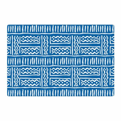Dan Sekanwagi Lines And Zigzags Tribal Blue Area Rug Rug Size: 2 x 3