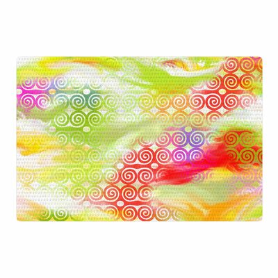 Dan Sekanwagi Locked Rams Horns Abstract Rainbow Area Rug Rug Size: 4 x 6