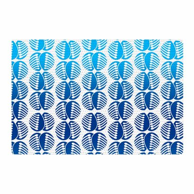 Dan Sekanwagi Poddy Combs Pattern Blue Area Rug Rug Size: 4 x 6