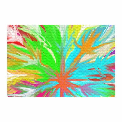 Dan Sekanwagi Tropical Paradise Abstract Rainbow Area Rug Rug Size: 4 x 6