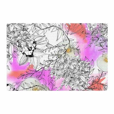 Danii Pollehn Flowerlights Pink/White Area Rug Rug Size: 2' x 3'