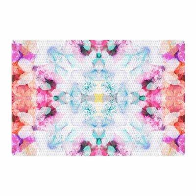 Danii Pollehn Hibiscus Kaleidoscope Pink/Blue Area Rug Rug Size: 2 x 3