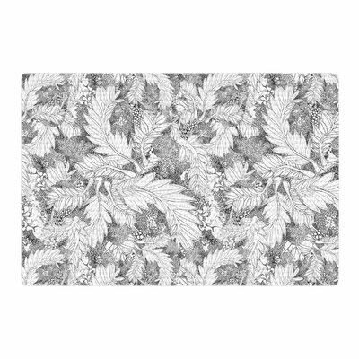 Danii Pollehn Jungle Paisley Gray/White Area Rug Rug Size: 2' x 3'