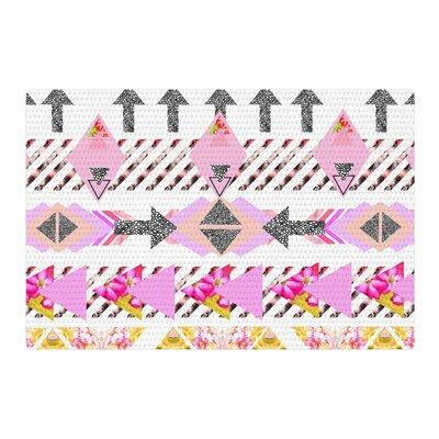 Danii Pollehn Modern Stripes Geometric Pink Area Rug Rug Size: 2 x 3