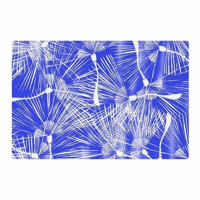 Danii Pollehn Palmtree Chinoiserie Blue/White Area Rug Rug Size: 2' x 3'