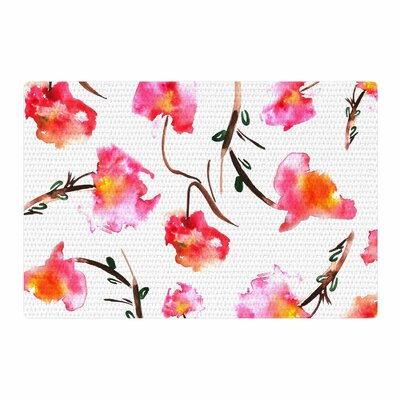 Danii Pollehn Springflower Painting Pink Area Rug Rug Size: 2 x 3