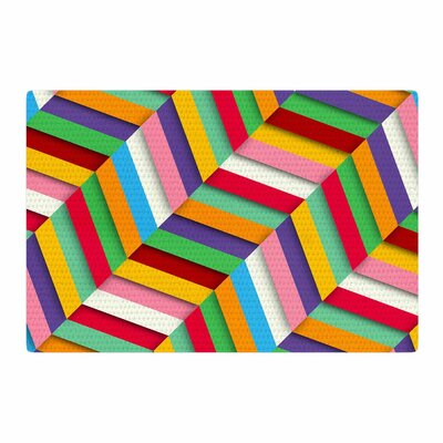 Danny Ivan Excuse Me Abstract Blue/Pink Area Rug Rug Size: 2 x 3
