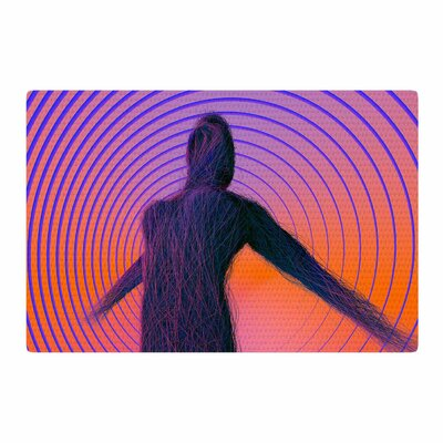 Danny Ivan Human Soul Purple/Orange Area Rug Rug Size: 2' x 3'