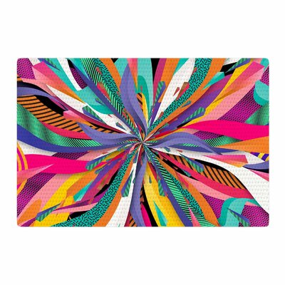 Danny Ivan Pop Abstract Red/Blue Area Rug Rug Size: 4 x 6