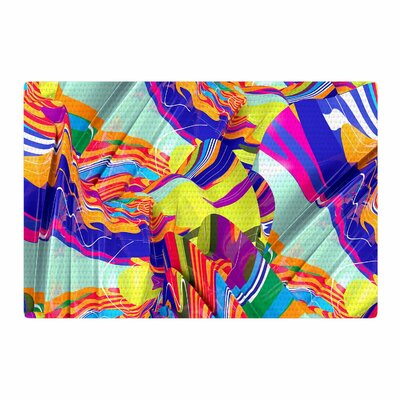 Danny Ivan To Swim Abstract Blue Area Rug Rug Size: 2 x 3