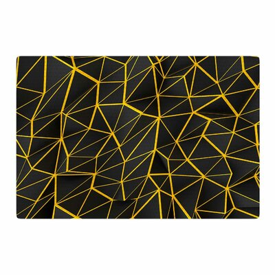 Danny Ivan Poly Yellow/Black Area Rug Rug Size: 2 x 3