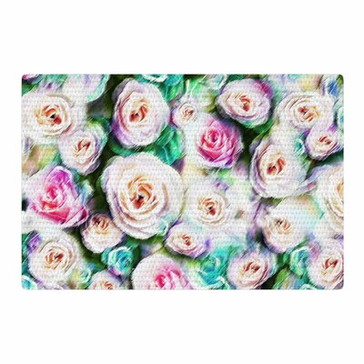 Dawid Roc Abstract Floral Bright Rose/Green Area Rug Rug Size: 2 x 3