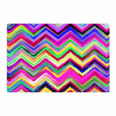 Dawid Roc Colorful Chevron Purple/Pink Area Rug Rug Size: 2 x 3