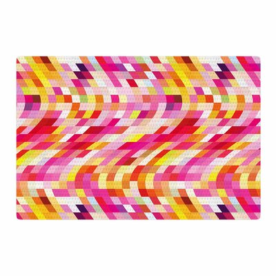 Dawid Roc Colorful Geometric Movement 2 Pink/Yellow Area Rug Rug Size: 4 x 6