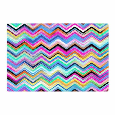 Dawid Roc Colorful Rainbow Chevron Red/Blue Area Rug Rug Size: 2 x 3