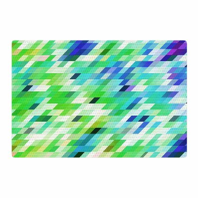 Dawid Roc Colorful Summer Geometric Abstract Green Area Rug Rug Size: 4 x 6