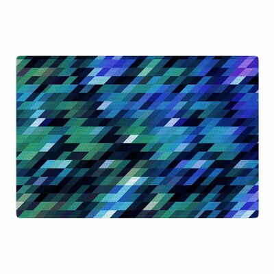 Dawid Roc Geometric City Digital Black Area Rug Rug Size: 2 x 3