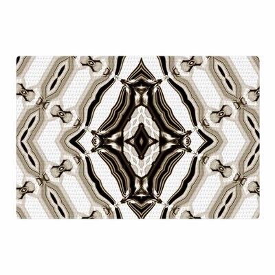 Dawid Roc Inspired By Psychedelic Art 6 Pattern Brown Area Rug Rug Size: 2 x 3